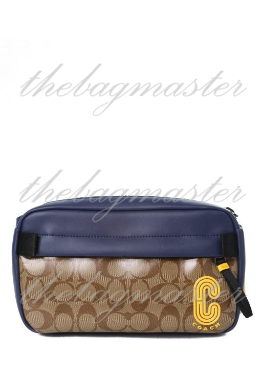 Coach Edge Crossbody In Signature Canvas with Coach Patch - Navy/Brown