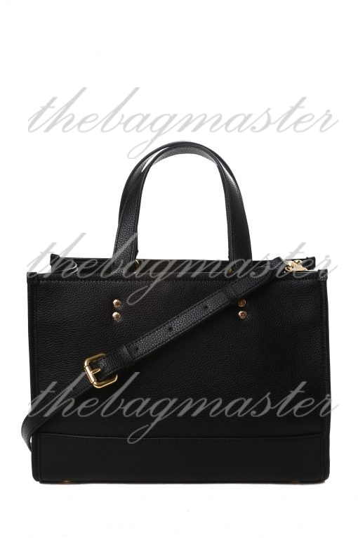 Coach Dempsey Carryall in Pebble Leather - Black