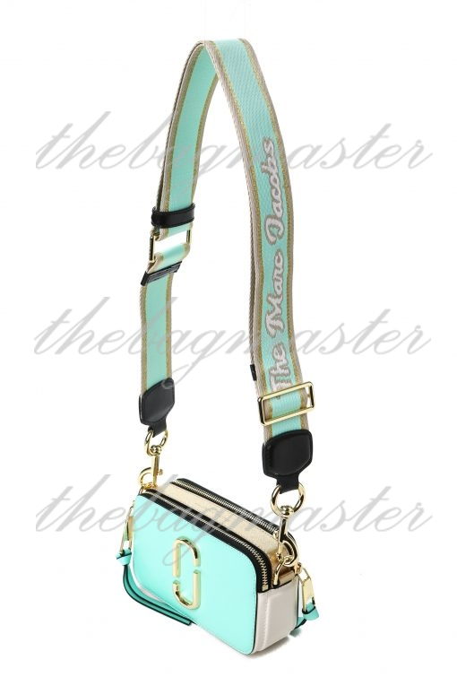 Marc Jacobs Saffiano Leather Snapshot Camera Bag - Mint Green/White