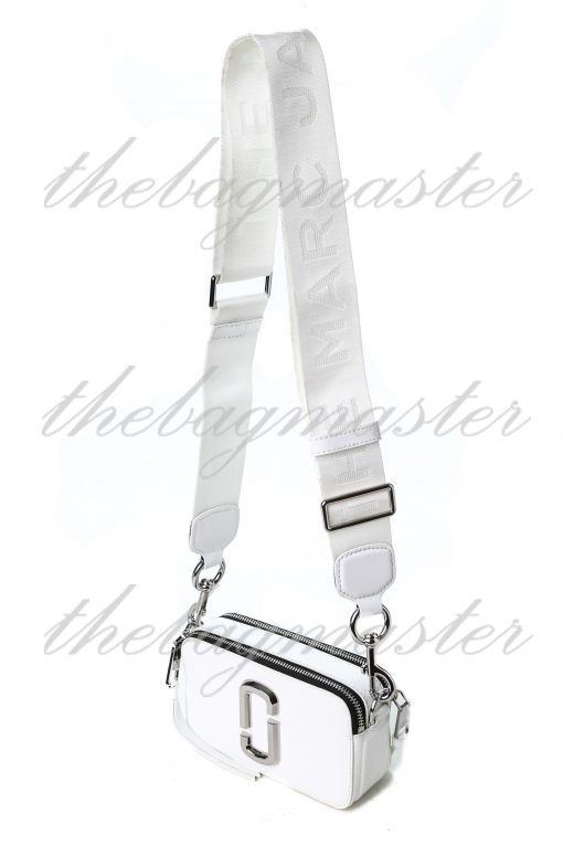 Marc Jacobs Saffiano Leather Snapshot Camera Bag - White