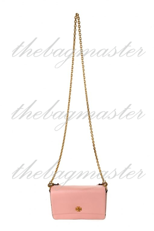 Tory Burch Kira Leather Double Shoulder Strap Bag - Pink