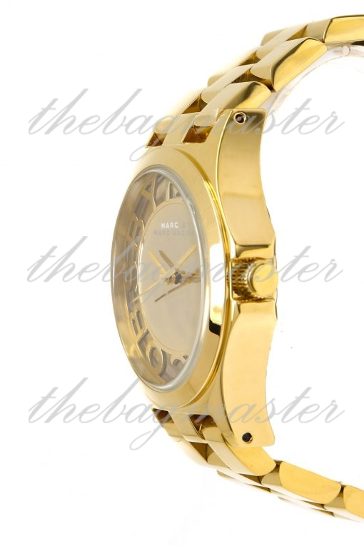 Marc Jacobs Henry Skeleton Gold Plated Women's Watch MBM3206
