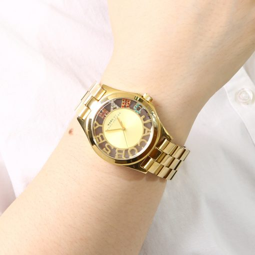 Marc Jacobs Henry Skeleton Gold Plated Women's Watch MBM3263