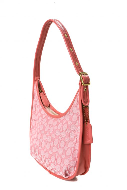 Coach Ergo Shoulder Bag in Signature Chambray - Powder Red