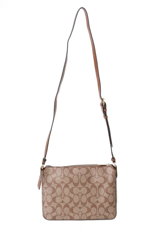 Coach Gallery File Bag in Signature Canvas - Tan/Brown