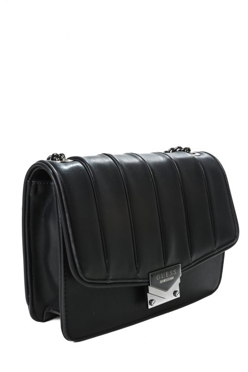 Guess Amee Crossbody Bag in Leather - Black