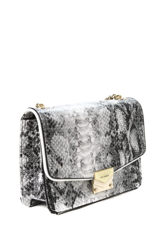 Guess Amee Crossbody Bag in Snakeskin Leather